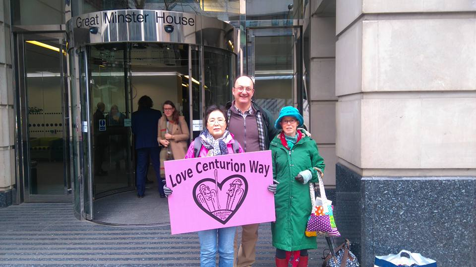 Delivering the card on behalf of those who use Centurion Way