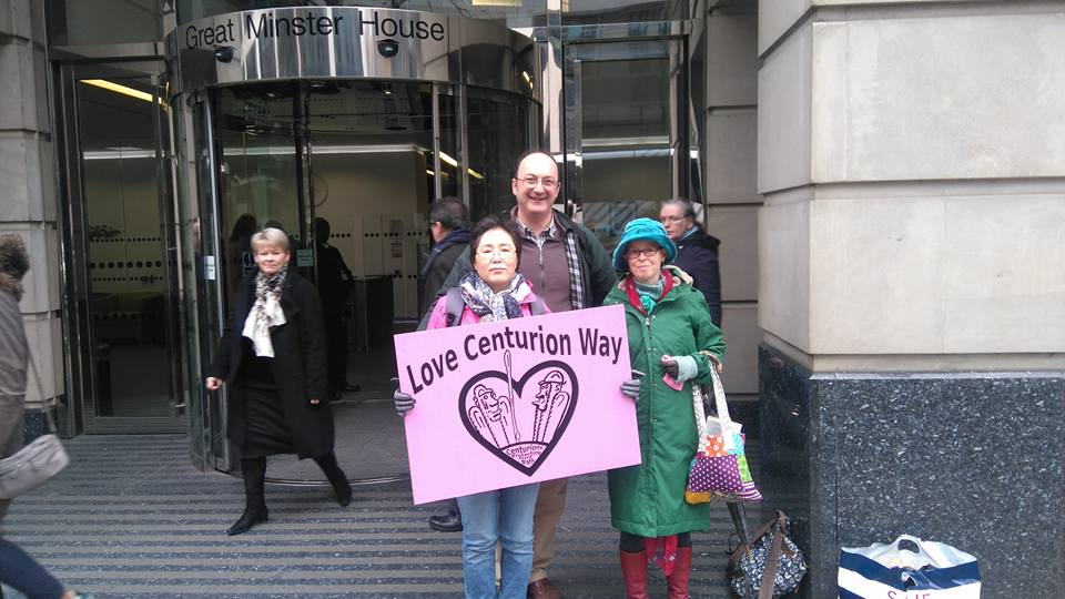 Taking a giant FoCW Valentines card to Dep Transport for Chris Grayling