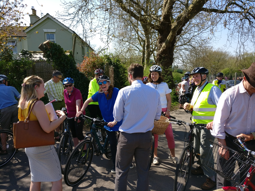 Gillian Keegan MP goes for a cycle with Friends of Centurion Way