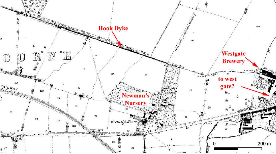 Map of Hook Dyke