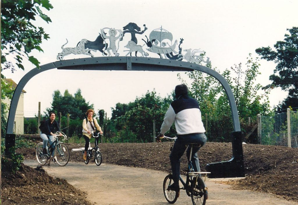Archway at the paths opening in 1995